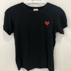 Aritzia heart tee shirt